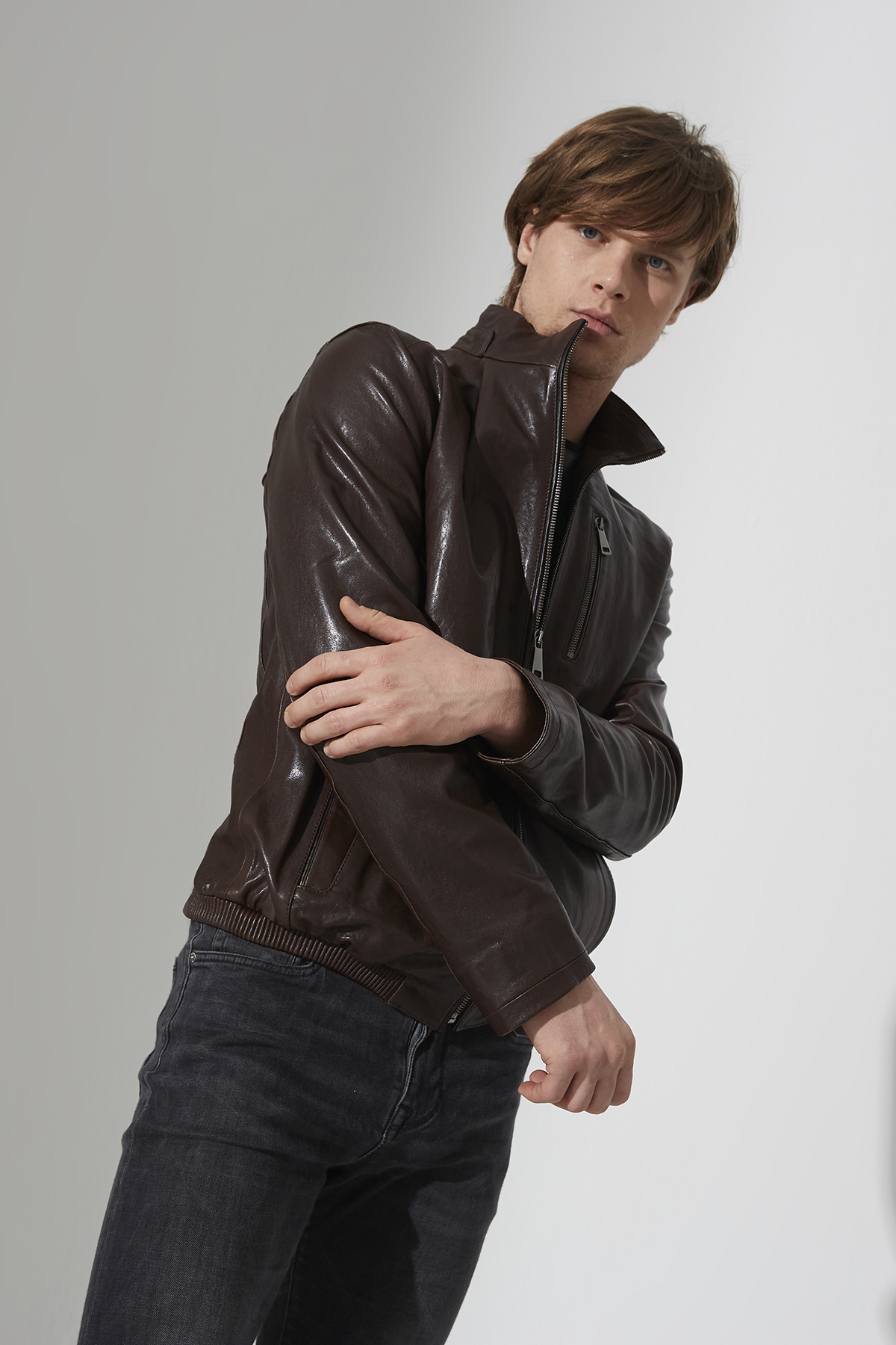 IPAMP13 Brown Leather Jacket