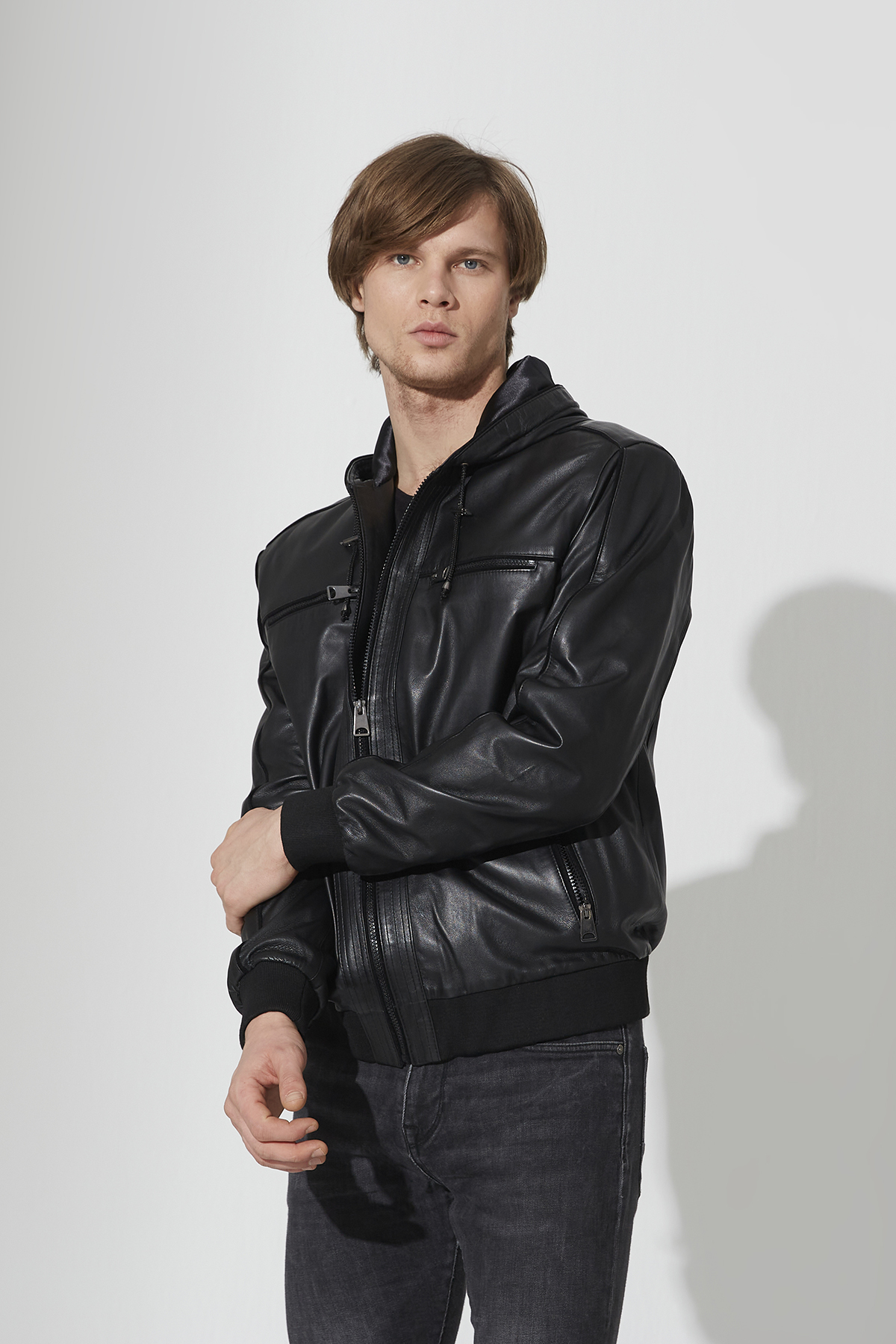 IPAM5543 Black Leather Jacket