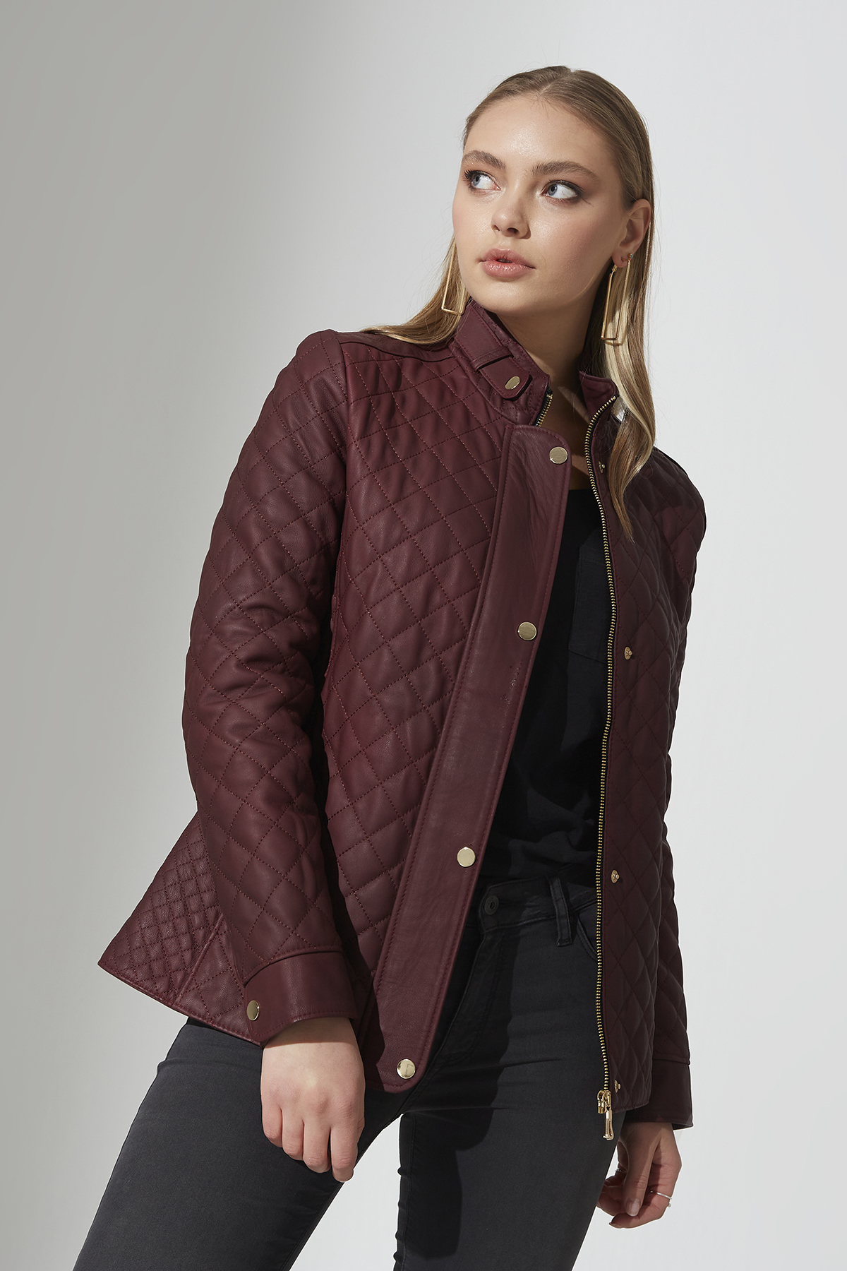 IPAWDUNNA Bordeaux Leather Jacket