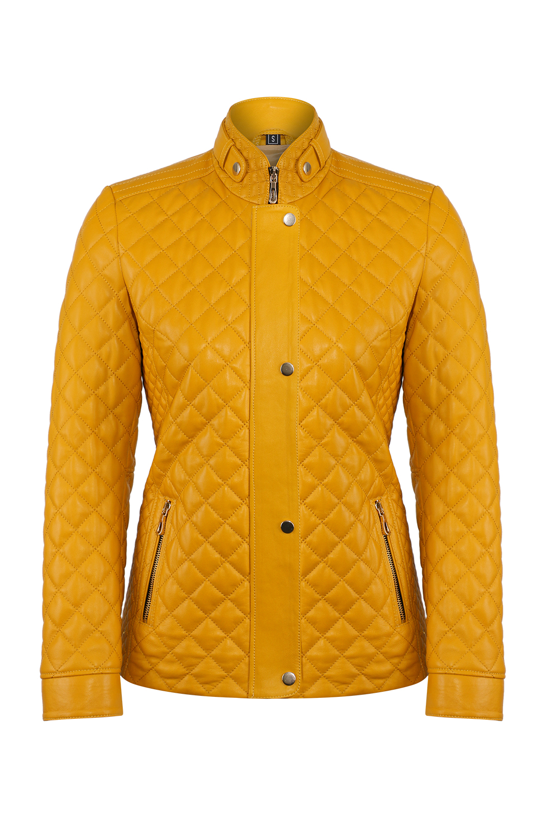 IPAWDUNNA Yellow Leather Jacket
