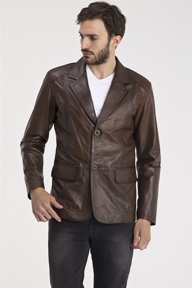 Men Leather Blazers Jacket / iparelde.com