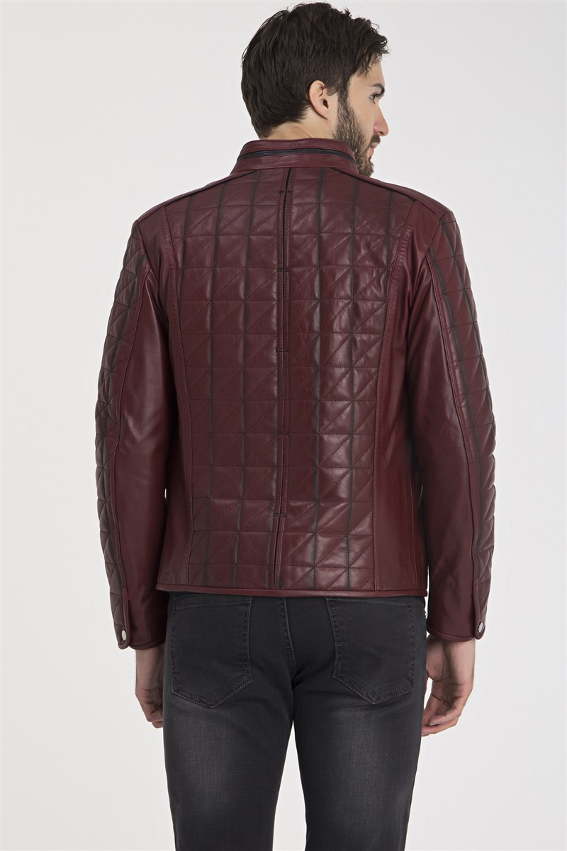 IPAM02 Bordeaux Leather Jacket