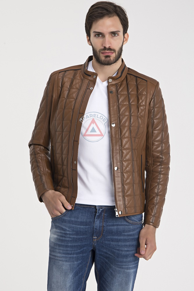 IPAM02 Light Brown Leather Jacket