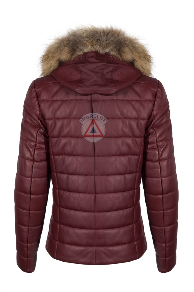 IPAM8488K Bordeaux Leather Jacket