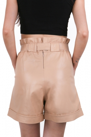 IPAW1002 Beige Leather Short