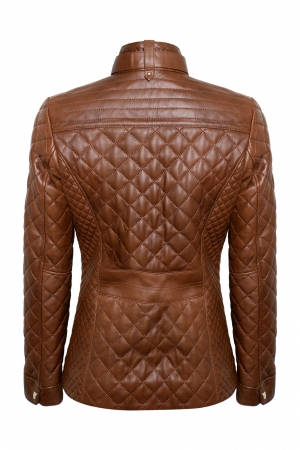 IPAWDUNNA Chestnut Leather Jacket