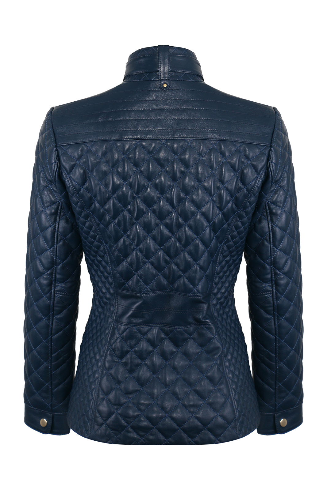 IPAWDUNNA Dark Blue Leather Jacket