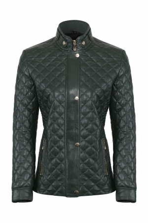 IPAWDUNNA Green Leather Jacket